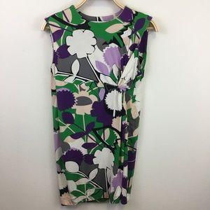 DIANE von FURSTENBERG Purple Floral Shift Dress -6